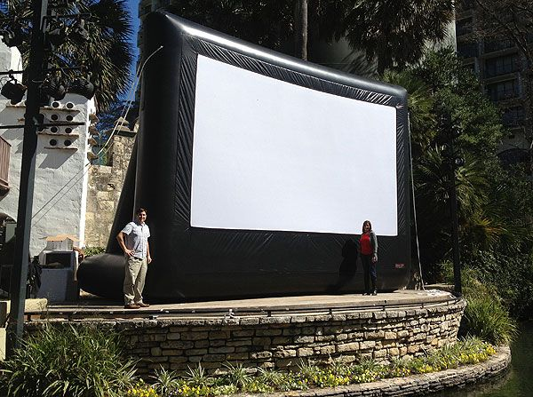 Large Inflatable Screen: 20 feet by 11 feet