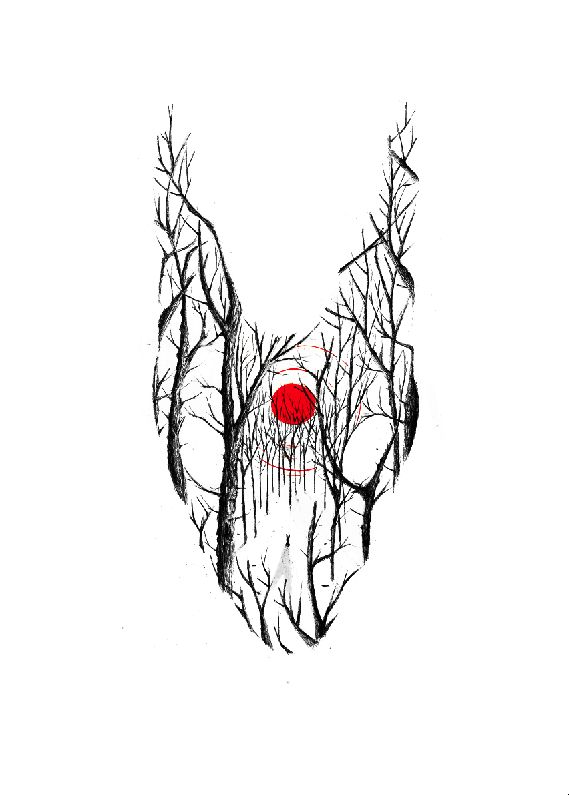 'Ink on paper for the book show in Paris, inspired by Watership down', found on…