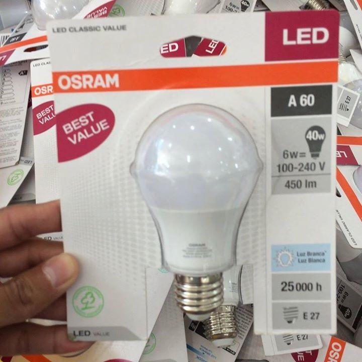 -- Lâmpada LED 6W R$1390 -- -  Lâmpada LED A-60 6 W de potência  marca Osram Bivolt 450 lumens vida útil de 25000 horas cor branca (5000 k)  Valor: R$1390  Oferta válida enquanto durar o estoque  Loja: Cecin Sarkis de Águas Claras próximo ao Shopping Quê ---------------------------------------- #opcdf #oferta #reforma #obra #construcao #arquitetura #design #engenharia #iluminacao #led #osram #economia #ilumina #luz #aguasclaras #taguatinga #vicentepires #cecinsarkis #acabamento #projeto…