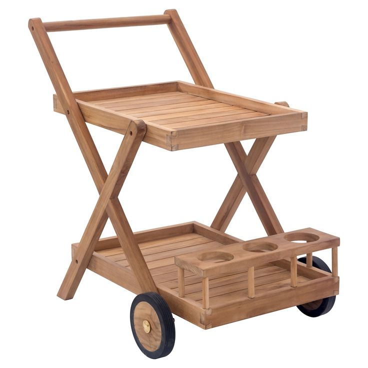 Zuo Regatta Trolley Cart, Outdoor Serving Cart