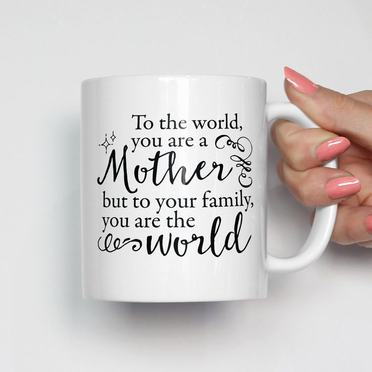 Mother Xmas Gifts Part - 41: A Mother Is The World Mug. Xmas Gifts ...