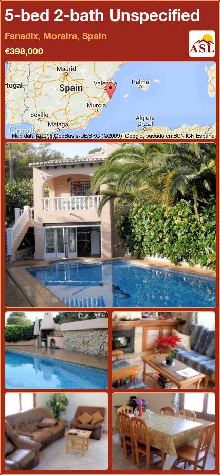 5-bed 2-bath Unspecified in Fanadix, Moraira, Spain ►€398,000 #PropertyForSaleInSpain