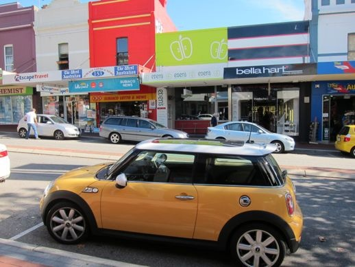 fighting for sanity in your city - sort of - A Beautiful City - Mini Cooper something-or-other on Rokeby Road, Subiaco, Australia