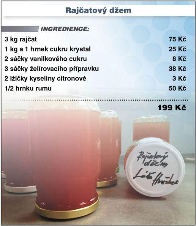 Levně a chutně - recept na Rajčatový džem