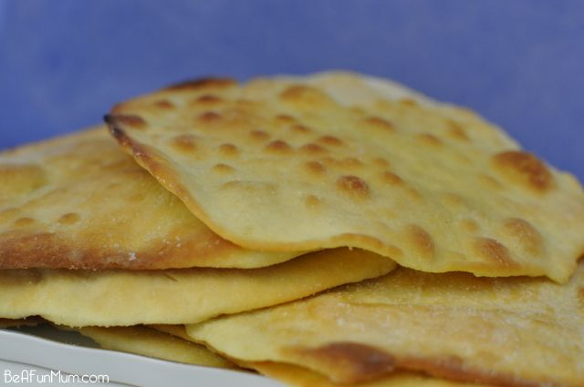 Easy Flat Bread Recipe | Be A Fun Mum