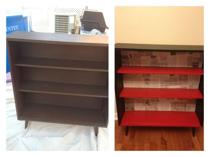 Before An Old Veneer Bookcase After Jamie And I Used