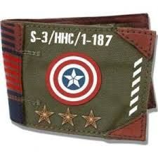 'Captain America' Military Army Canvas Wallet