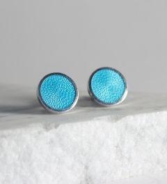 Silver and enamel cufflinks by Pekka Piekäinen