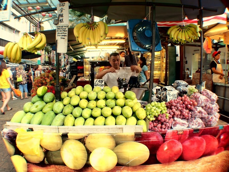 Fruit stall in Chinatown, KL.