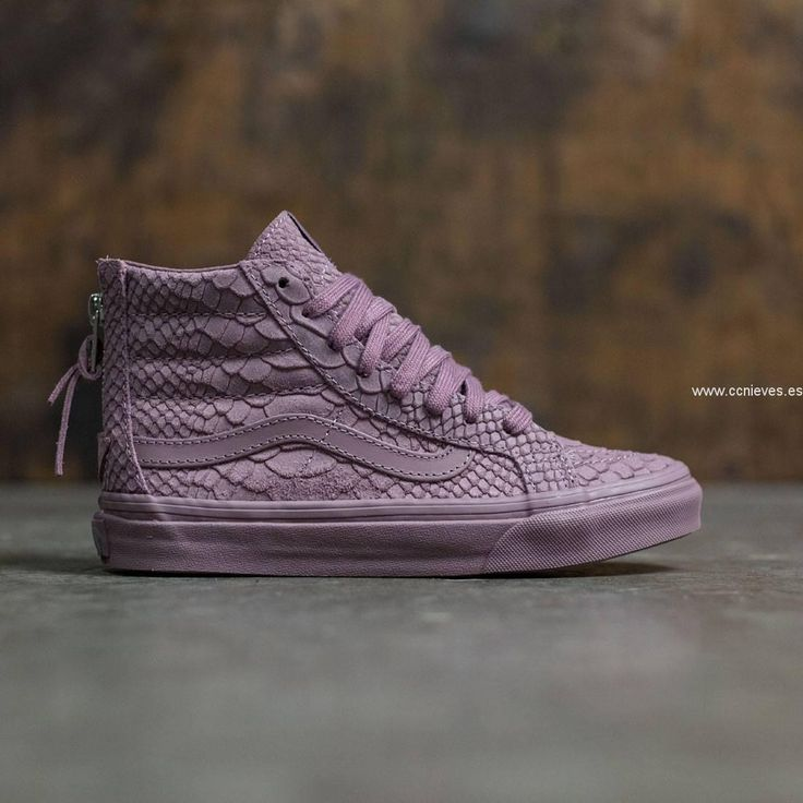 Europe Vans Mujer SK8-Hi Slim Zip DX - Mono (púrpura / mauve)