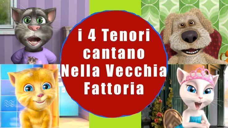 Talking Animals Tom Ginger Angela Ben cantano Nella Vecchia Fattoria ia ...