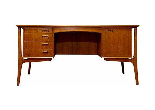 san francisco mid century modern vintage danish teak floating desk svend madsen 1850