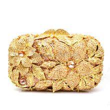 New Filigrane helle hohe qualität luxus silber diamant kristall clutch abendtasche damen handtasche mini geldbörse gold brieftasche 88413 //Price: $US $61.80 & FREE Shipping //     #dazzup