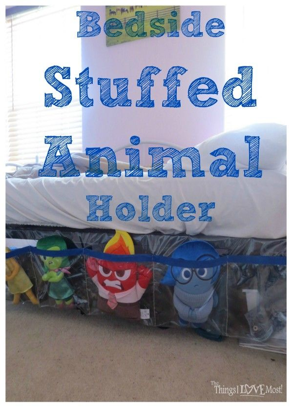 Easy DIY  Bedside Stuffed Animal Holder