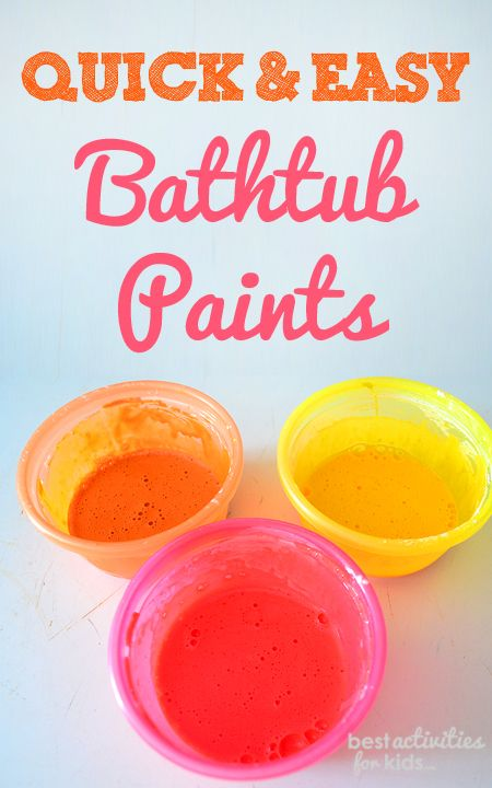 Quick and Easy Recipe for Bathtub Paints
