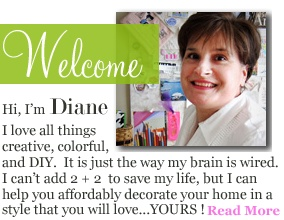 This lady wrote a decorating book  called Instant Decorating back in the 1990's. It is no longer in print, but her blog is where she continues to share ideas and what I have found works for me – all budget friendly