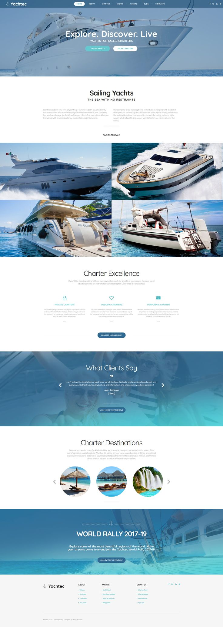 Yachting Responsive Moto CMS 3 Template #63711