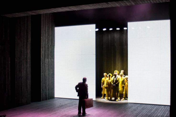 The Visit by Friedrich Dürrenmatt @ Aarhus Teater, Denmark // set design and video by Igor Vasiljev // directed by Mick Gordon