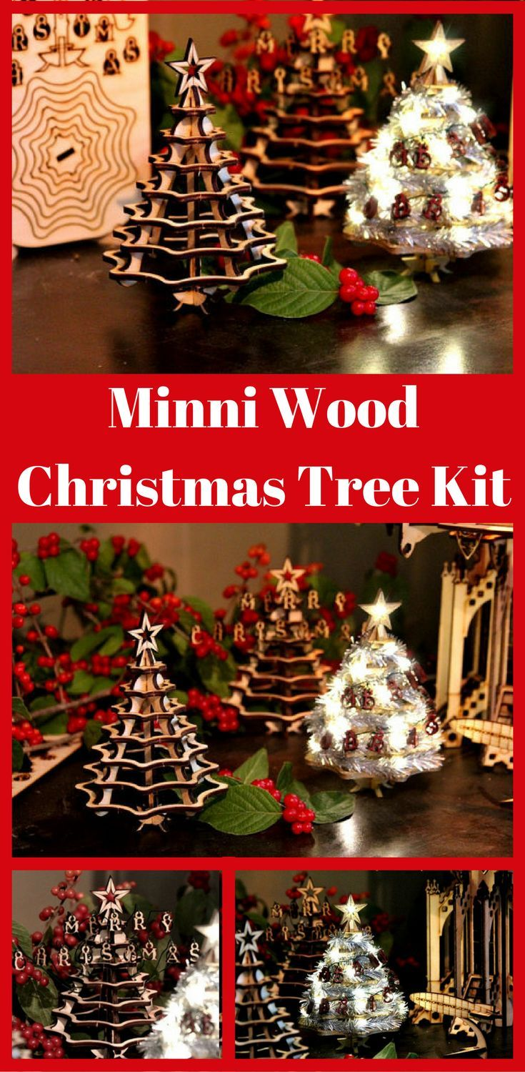 Mini Christmas Tree Kit Wooden Desktop Tree Made From A Single