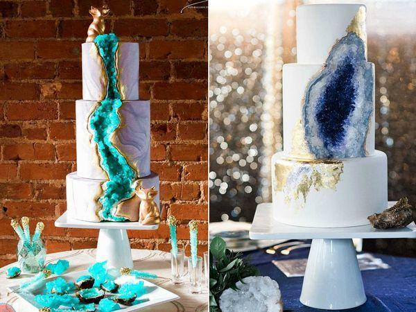 Подвиньтесь, скучные белые свадебные торты!