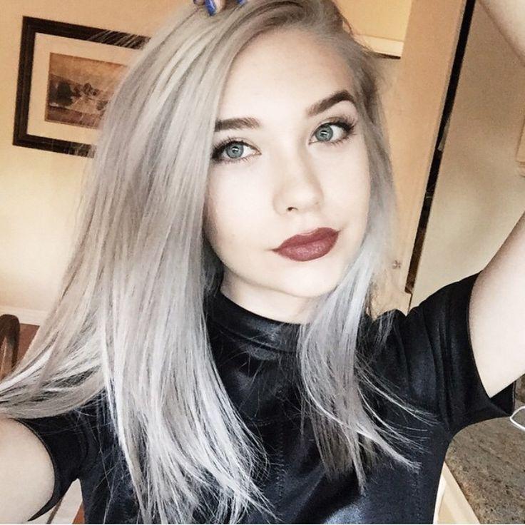 Makeupbymandy24 // short purple-blue-gray-white hair