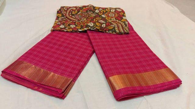 Uppada Cotton Sarees With Ikkat Blouse   Buy Online Sarees   Elegant Fashion Wear