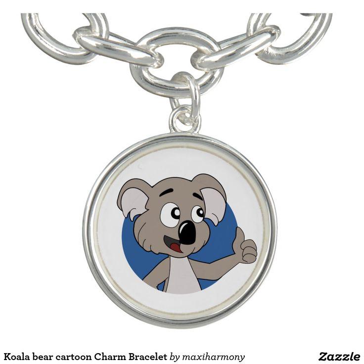 Koala bear cartoon Charm Bracelet