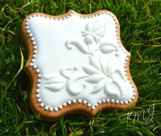 Feliratozható esküvői mézeskalács. Labeled wedding gingerbread cookie by TMJcreative.