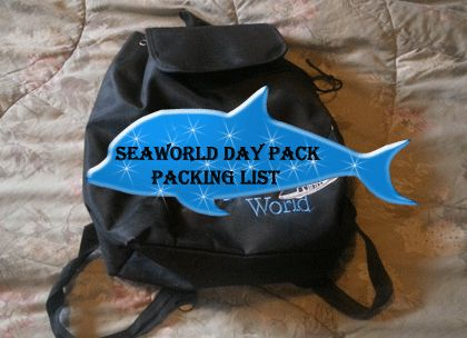 What to pack in your backpack for a day at Seaworld!
