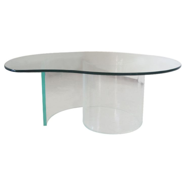 Gl And Acrylic Coffee Table In The Manner Of Vladimir Kagan