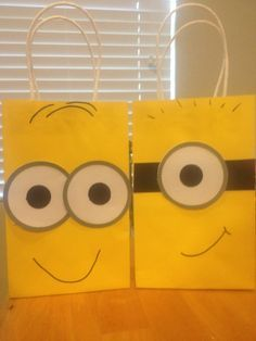 despicable me party ideas | Despicable Me Minion Favor Bags by TBcraft06 on Etsy, $12.00