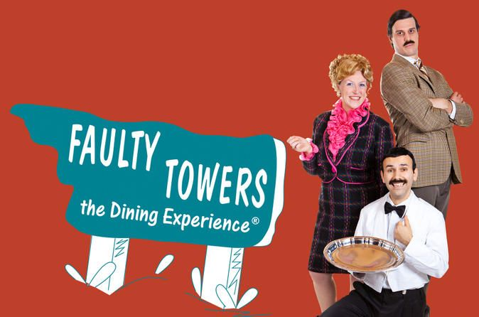 Faulty Towers The Dining Experience  						Prepare yourself for two hours of unexpected, fully immersive and highly improvised comedy at Faulty Towers The Dining Experience in London's West End. Set in a specially devised Torquay Suite Theatre at the 4-star  Amba Hotel Charing Cross, this unique show pays homage to the popular British sitcom 'Fawlty Towers.' Check in to the theater, be shown to your seat by Basil, Sybil and Manuel, then try not to laugh yourself silly as they ...