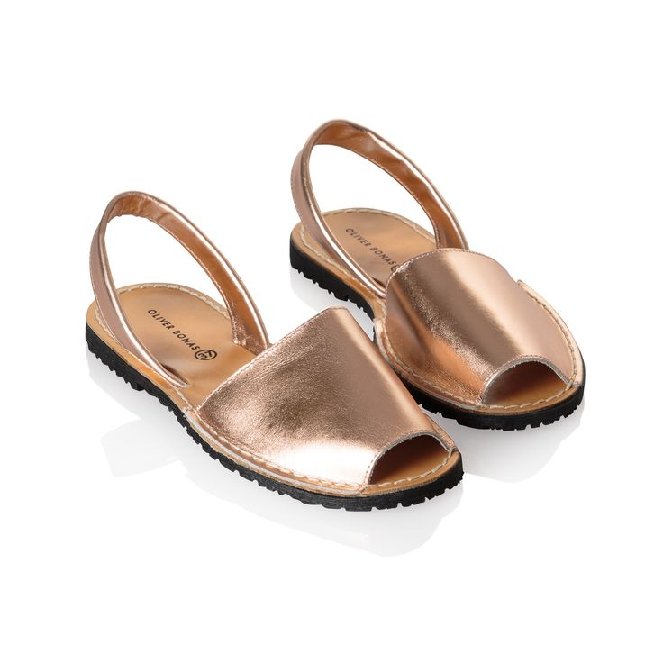 Buy the Menorquina Style Rose Gold Leather Sandals at Oliver Bonas. Enjoy free worldwide standard delivery for orders over £50.