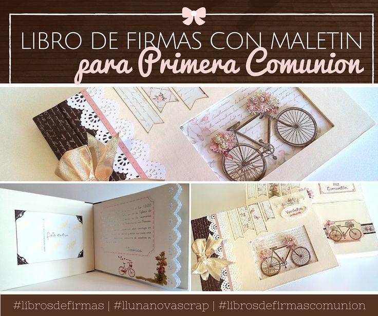 Libros de firmas comunion scrapbooking