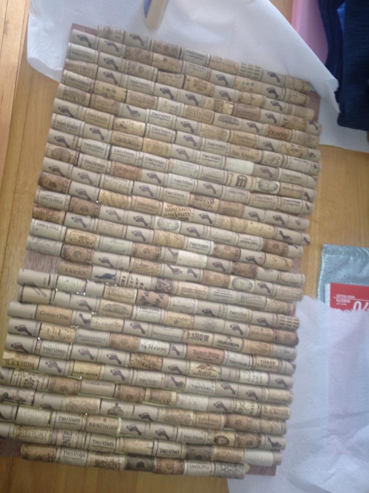 Wine Cork Ceiling Tiles Diy Craft Projects Pinterest
