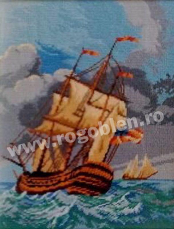 Cod produs 6.05 Fregata in furtuna Culori: 20 Dimensiune: 15 x 19cm Pret: 37.20 lei