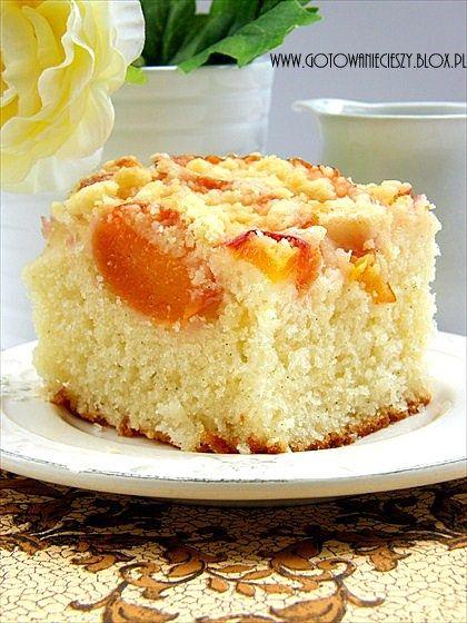 ciasto waniliowo-brzoskwiniowe