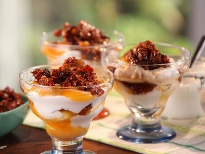 Apricot-Yogurt Parfait with California Granola | Brunch with Bobby Flay recipe
