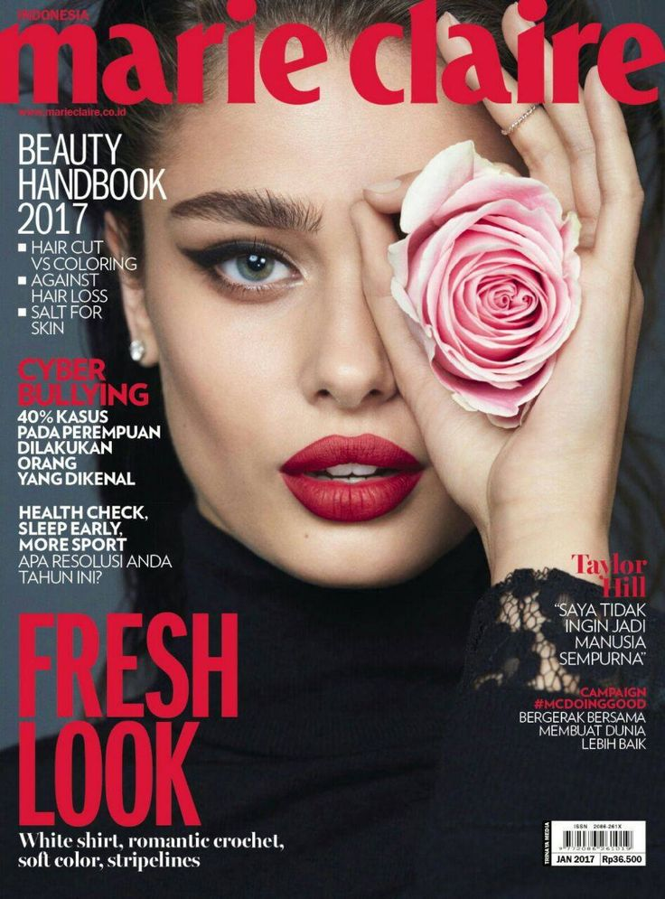 Taylor Hill On The Cover Of Marie Claire Indonesia January
