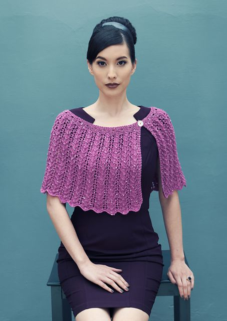 Auriga by Louisa Harding on Ravelry.I just stumbled on this designer on Ravelry, and I am ALL about these looks. AMAZING. I didn't know that I needed a capelet, but now I do. More via the link.