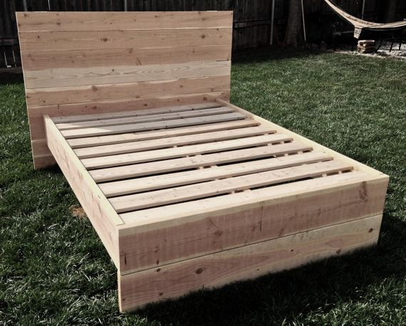 custom contemporary wood bed frame - Custom Bed Frames