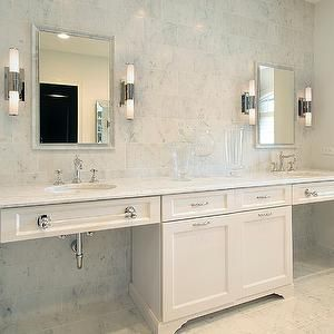 Double Vanity Ideas- Contemporary - bathroom - Benjamin Moore Natural Linen - The Sky is the Limit