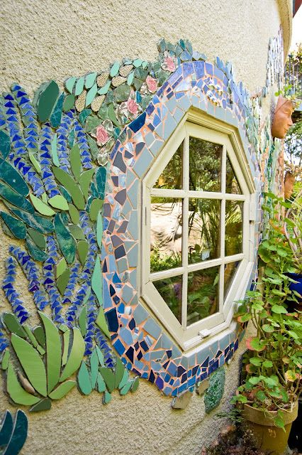 "Mosaics form part of ""TickleTank,"" a house and garden in the Adelaide Hills, South Australia owned by Hills Artist Irene Stone Pearce."