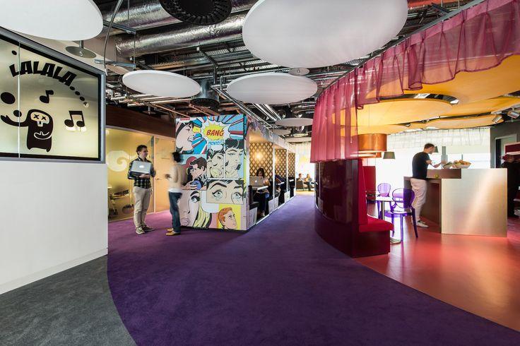 Google Campus Dublin | Google Docks - Communication Hub - Floor Identity: Have Fun #GoogleDublin, #Office, #WallGraphics