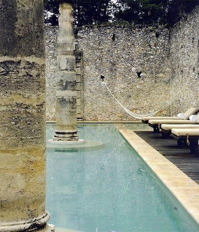 hammock over pool