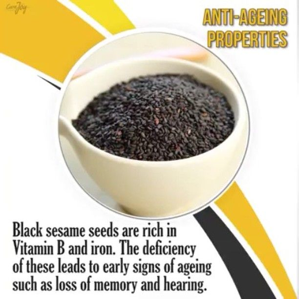 Benefits of black sesame seeds.