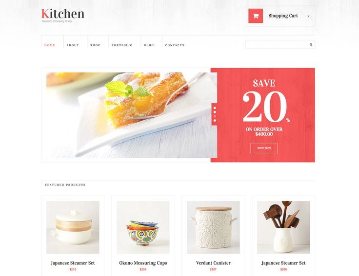 Nice Kitchen Equipment #ecommerce Theme #web #design #layout Part 23