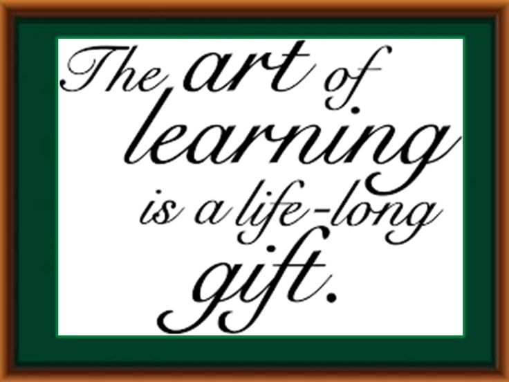 The art of learning.