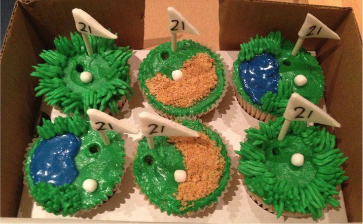 Golf Themed Cupcakes