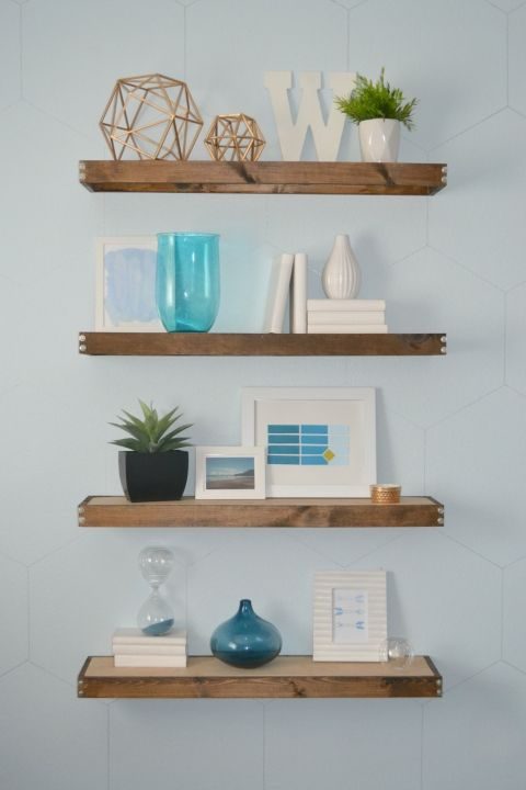 DIY Rustic Modern Floating Shelves: part one